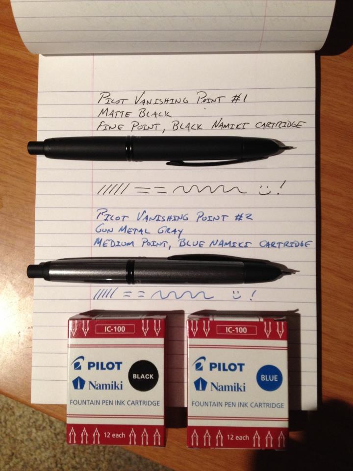 pilot vanishing point review, writing, creative
